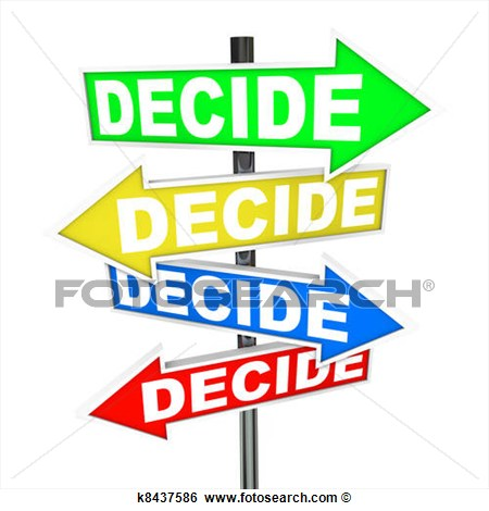 Decision Clipart.
