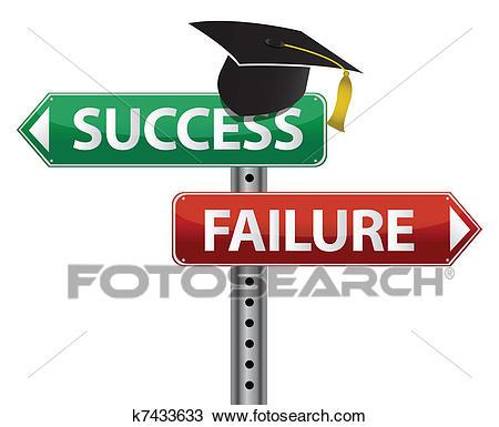 Graduation hat decision making Clipart.