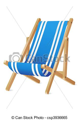 Stock Illustrations of Deck chair front view (with clipping path.