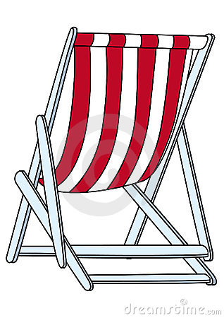 Deckchair (illustration) Stock Photo.