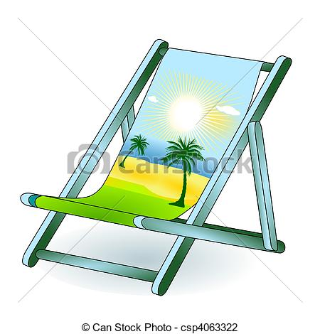Vector Illustration of deck chair holiday dream csp4063322.