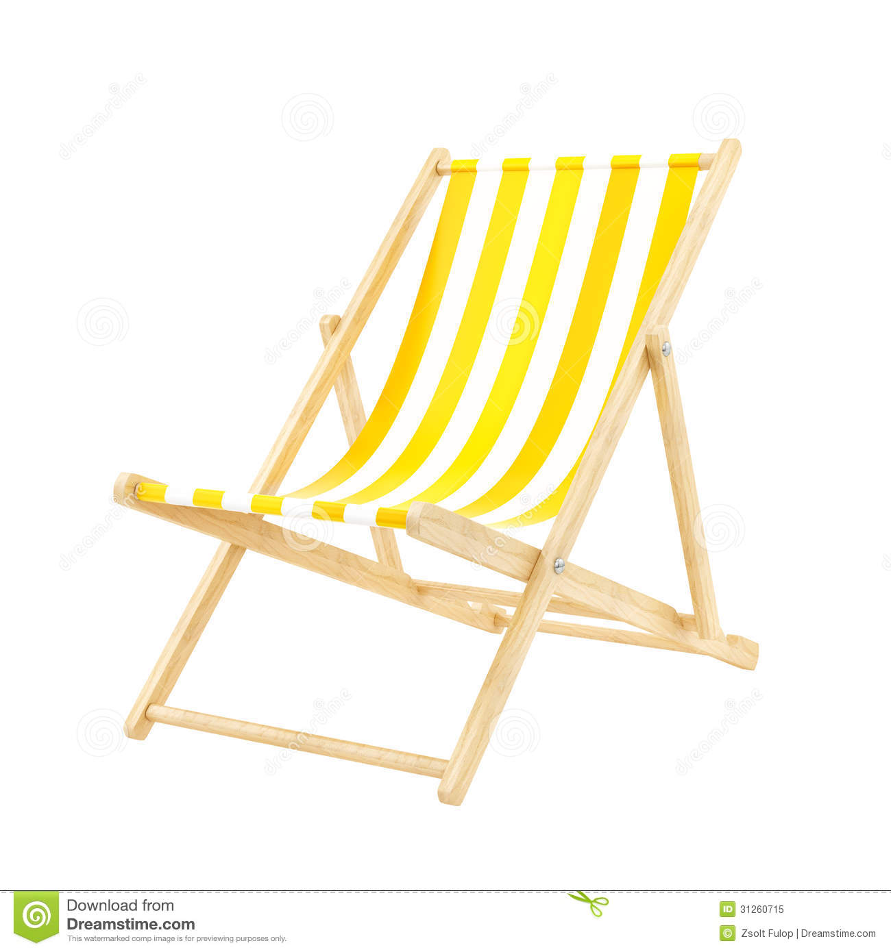 Deck chair clipart.