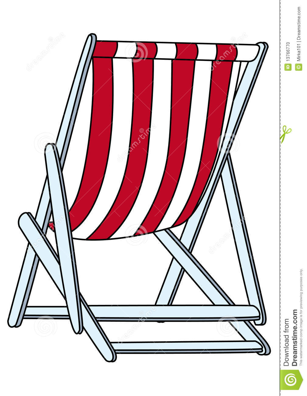 Deck Chair Clip Art.