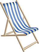 Clipart of tropical beach,deck chair and umbrella k6412930.