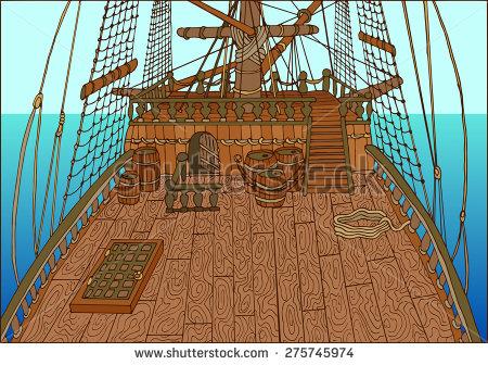 Wood deck clip art.