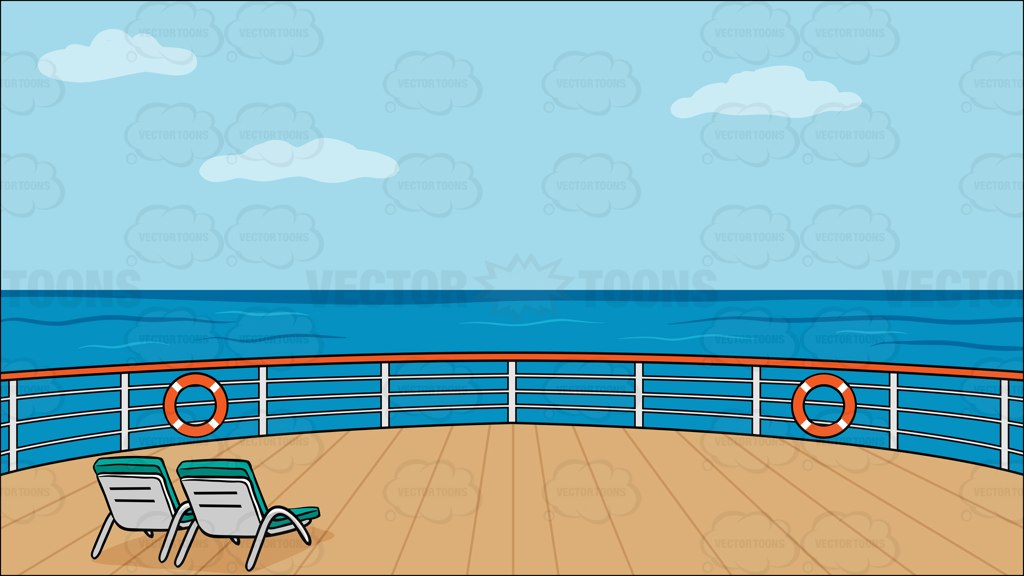 Carnival ship open deck clipart.