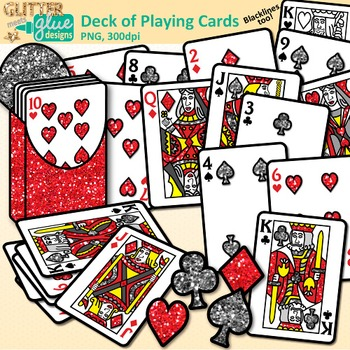 Deck of Playing Cards Clip Art {Great for Math Games and Center.