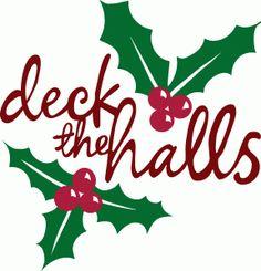 Deck the halls clipart.