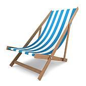 Clip Art of deck chair k3608502.