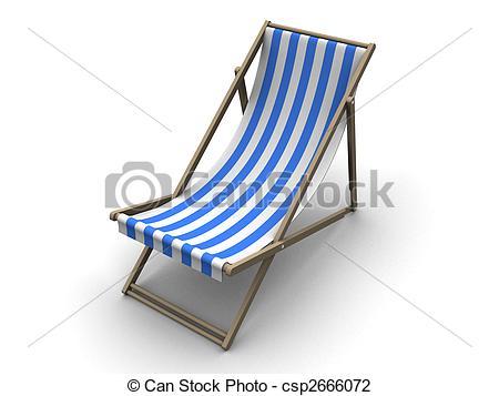 Clip Art of deck chair.