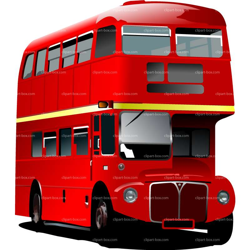 CLIPART OLD DOUBLE DECKER BUS.
