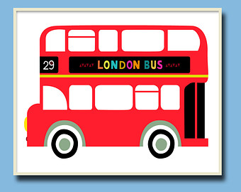 London Bus Clipart.