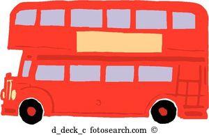Double decker bus clipart #3