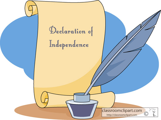 Declaration Of Independence Clipart.