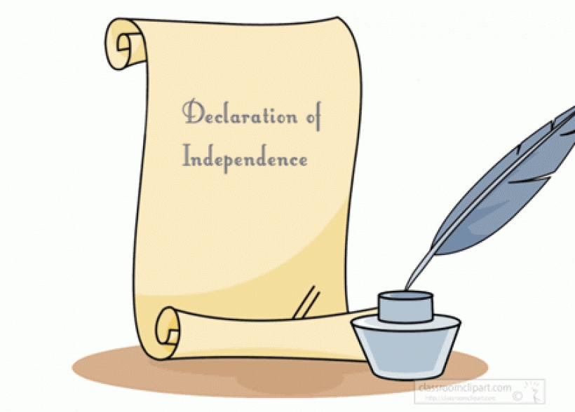 Declaration of independence free clip art.