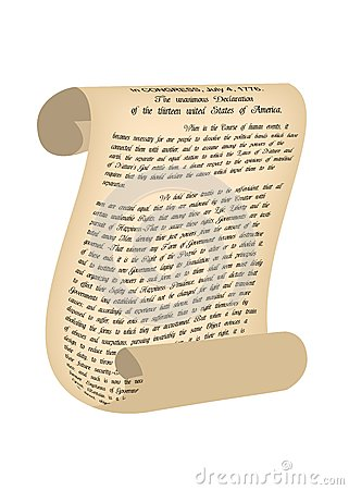 Clipart declaration of independence scroll.