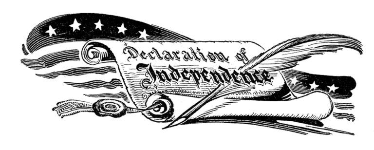 Free Vintage Declaration of Independence Image.