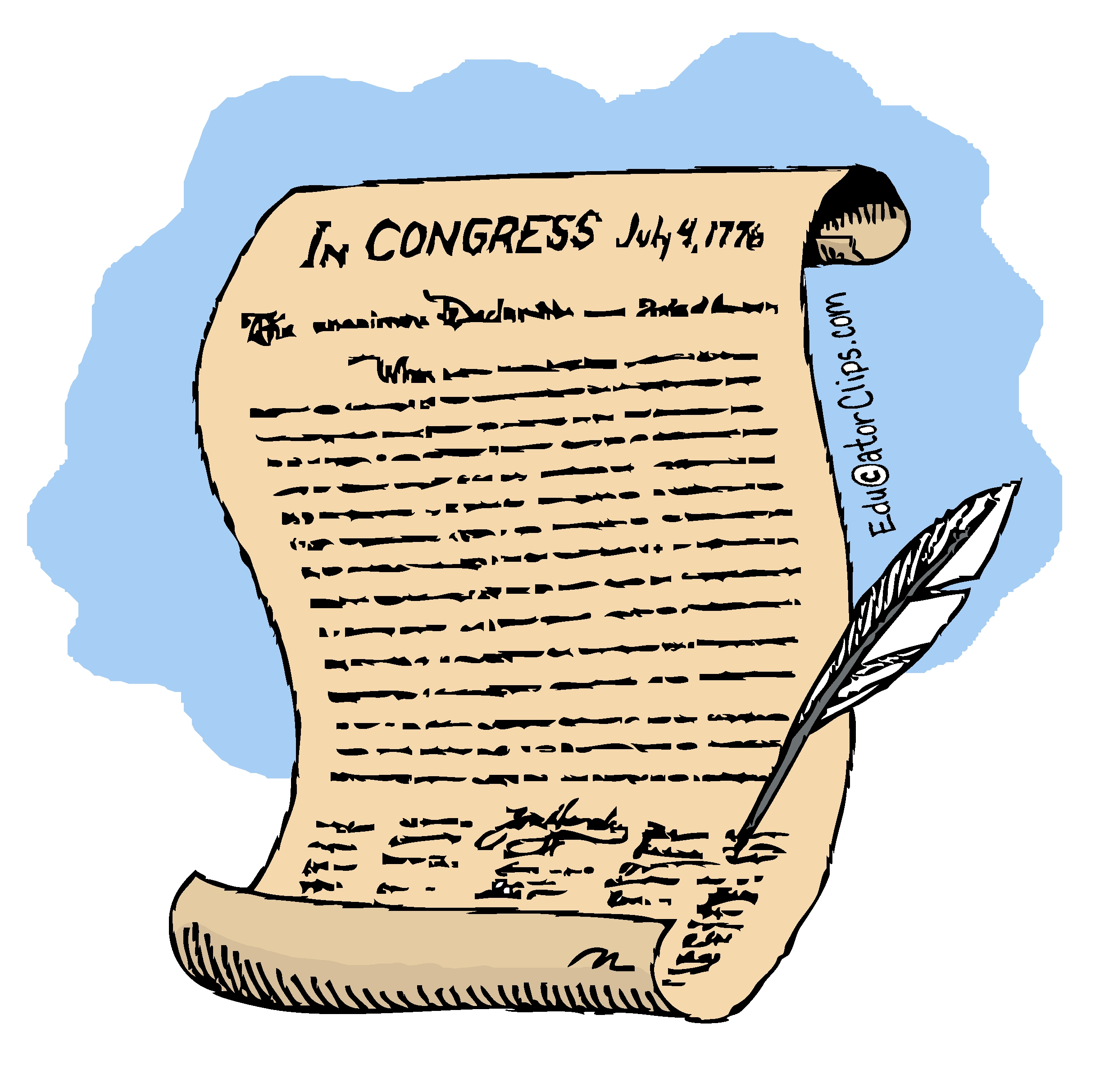 Declaration of Independence Clip Art.