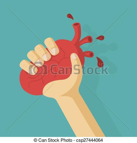 Clip Art Vector of Original declaration of love. Heart is in an.
