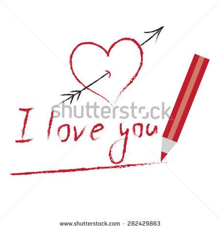 Declaration Of Love Vecteurs de stock et clip.