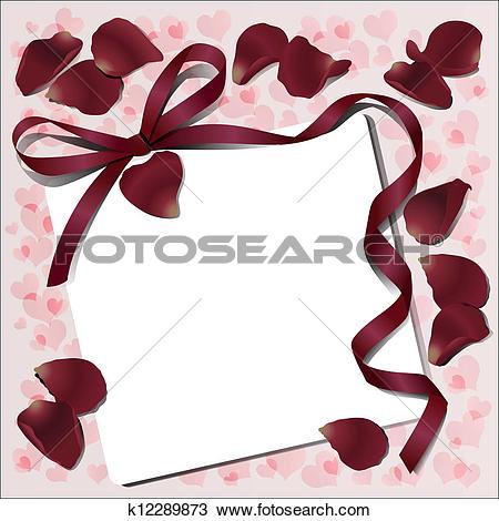 Clipart of Declaration of love k12289873.