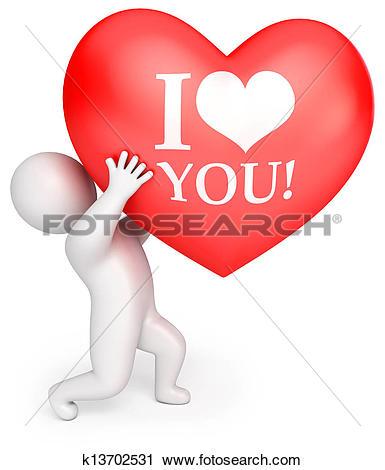 Clipart of Declaration of love k13702531.