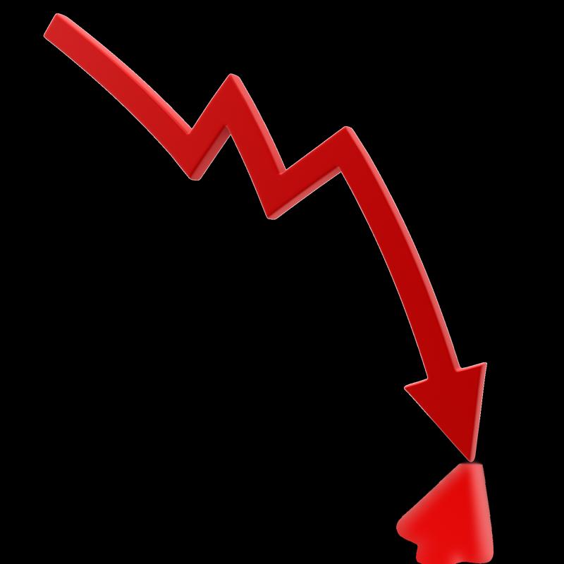 Graph clipart decline, Graph decline Transparent FREE for.