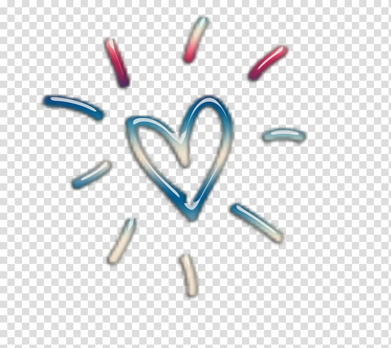 Decoraciones, blue and red heart illustration transparent.