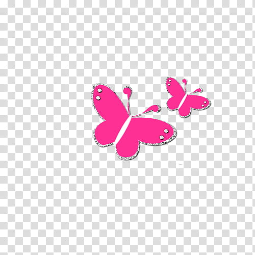 Decoraciones, two pink butterflies illustration transparent.
