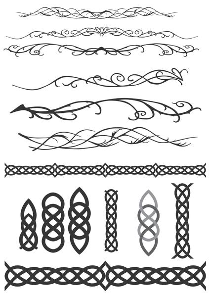 Celta elfos & decoraciones imágenes prediseñadas (clip arts.