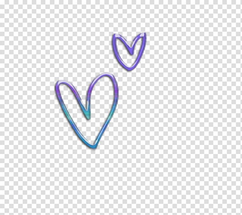 Decoraciones, purple and teal heart artworks transparent background.