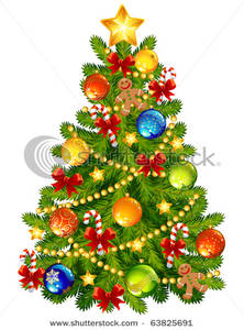 Art Image: A Decorated Christmas Tree.