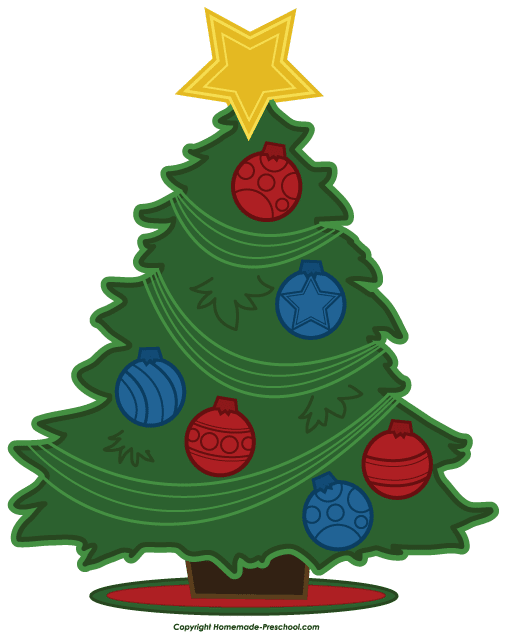 Free Christmas Tree Clip Art.