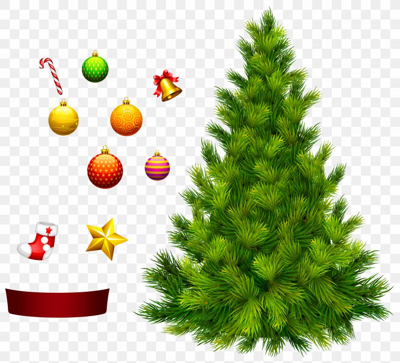 Xmas Tree For Decoration Clipart, PNG, 5498x4992px.