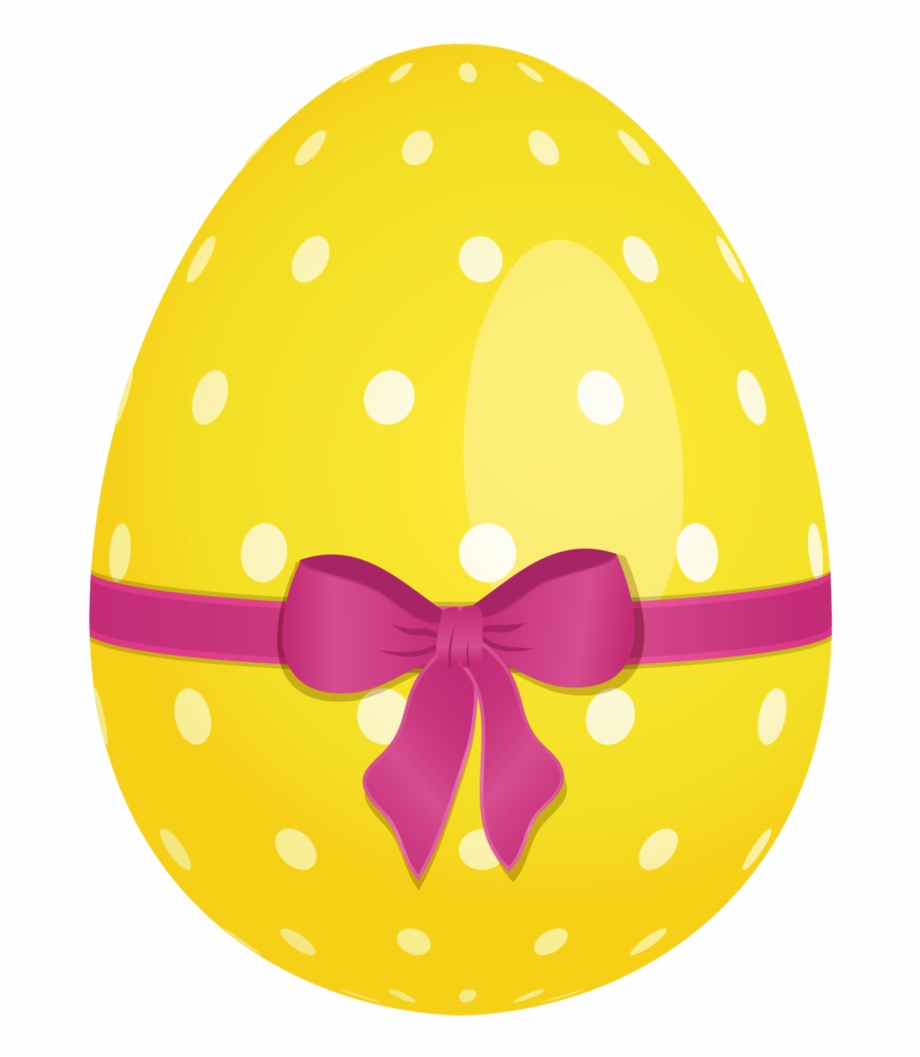 Easter Eggs Dotted Yellow Png.