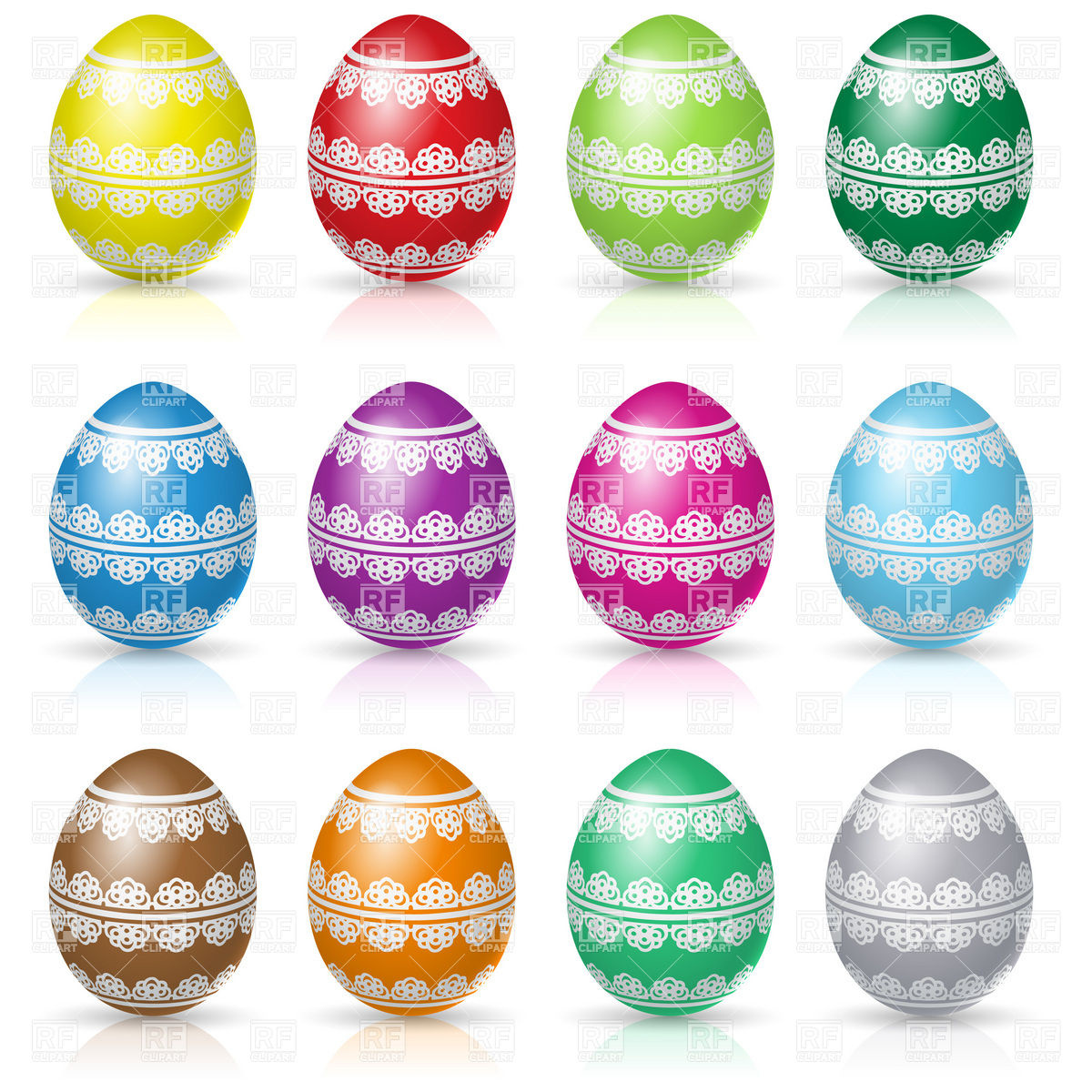 Decorative Easter eggs Stock Vector Image.