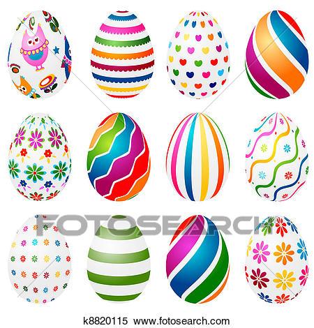 Easter eggs Clipart.