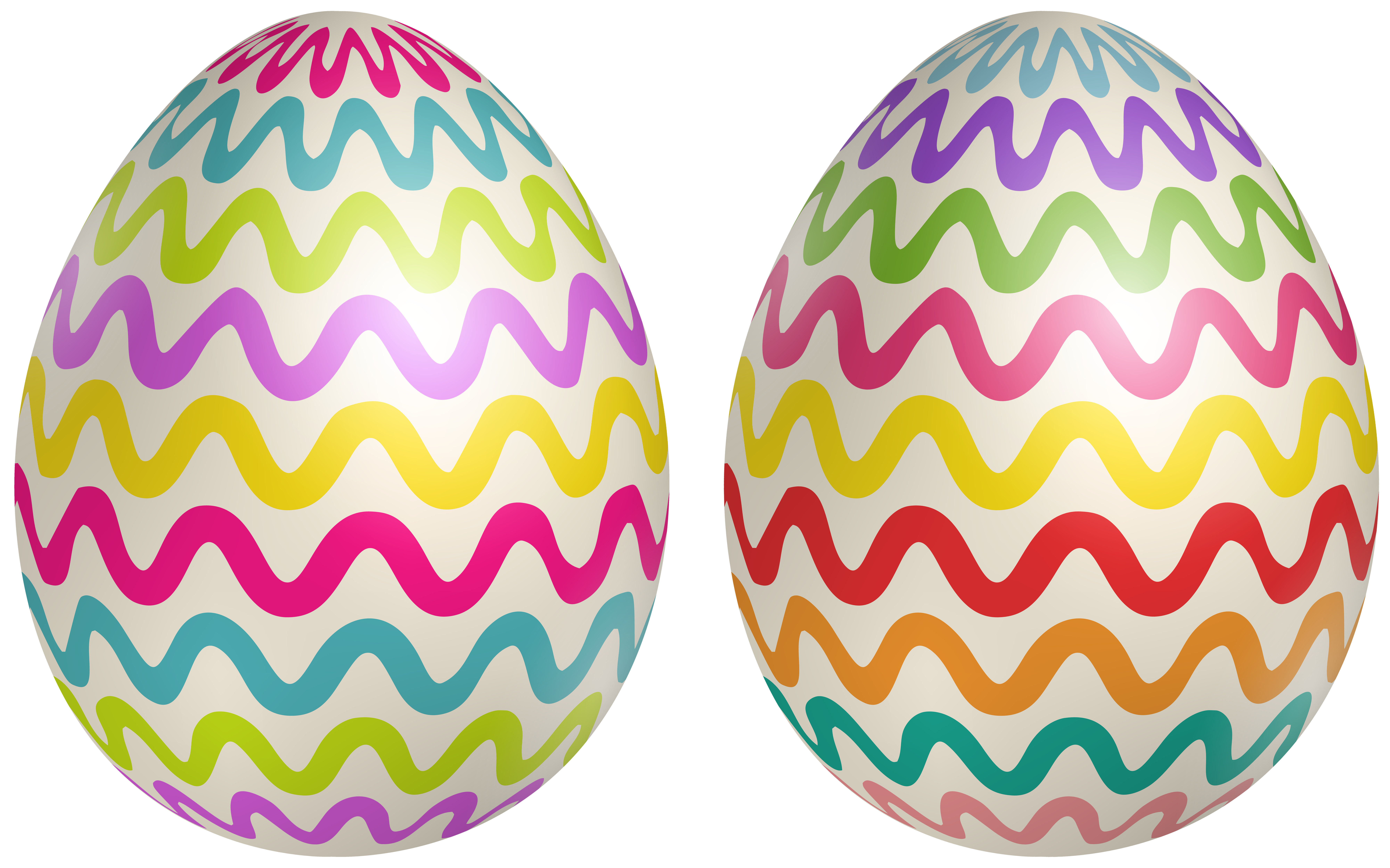 Decorative Easter Eggs Clipart Image.