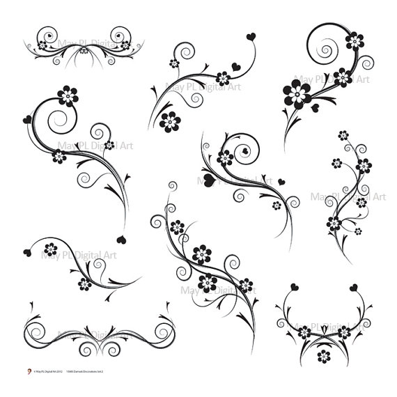 Clip Art Black And White Gift Wrapping Clipart.