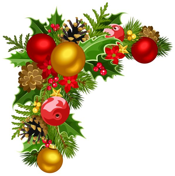 Transparent Christmas Decorated Wreath PNG Clipart.