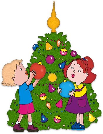 decorating the christmas tree clipart - clipground