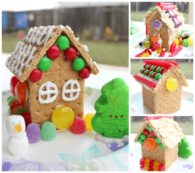 Decorated Candy Houses.