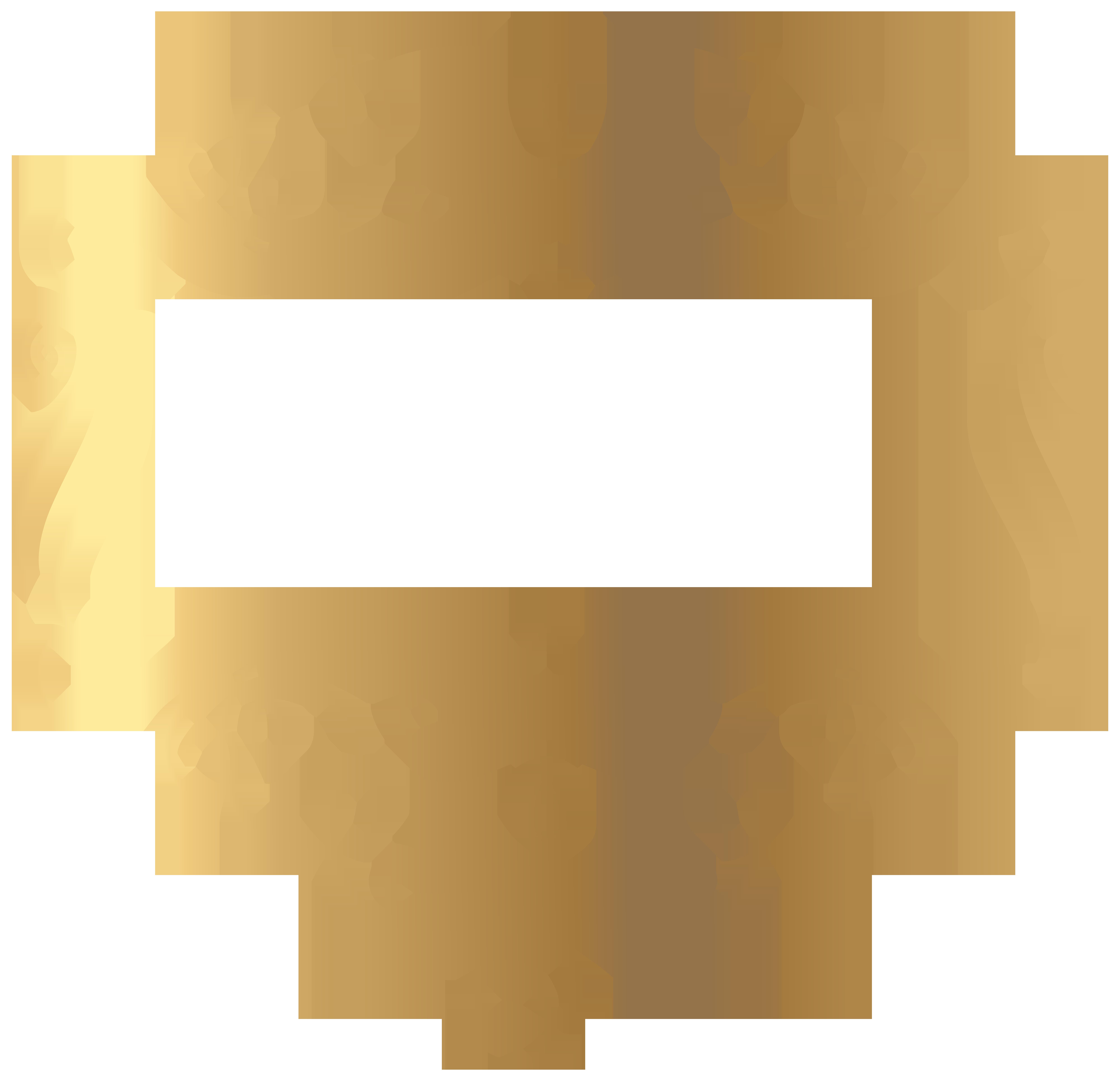 Gold Decoration PNG Transparent Clip Art Image.