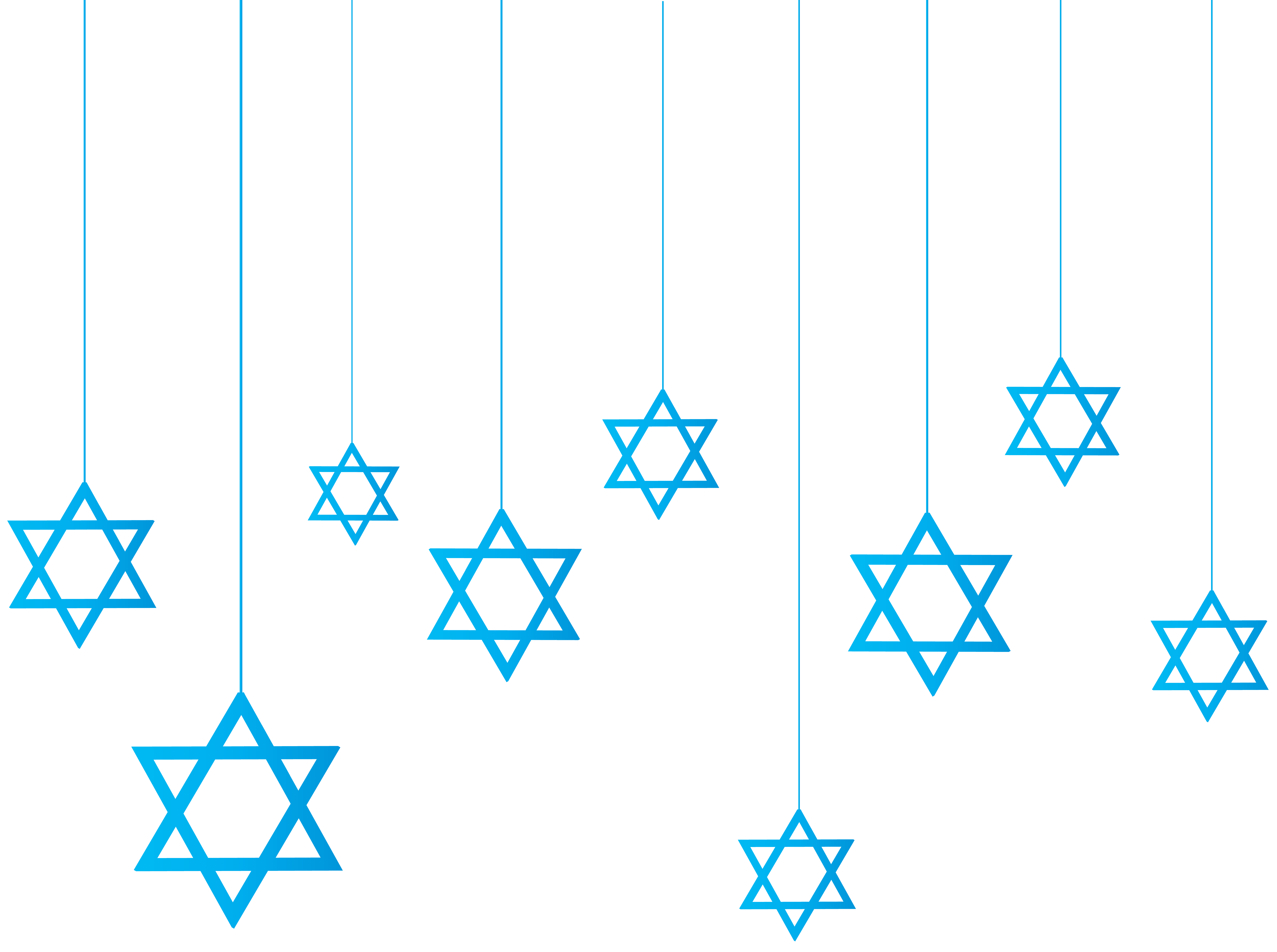 Star of David Hanging Decoration PNG Clip Art.