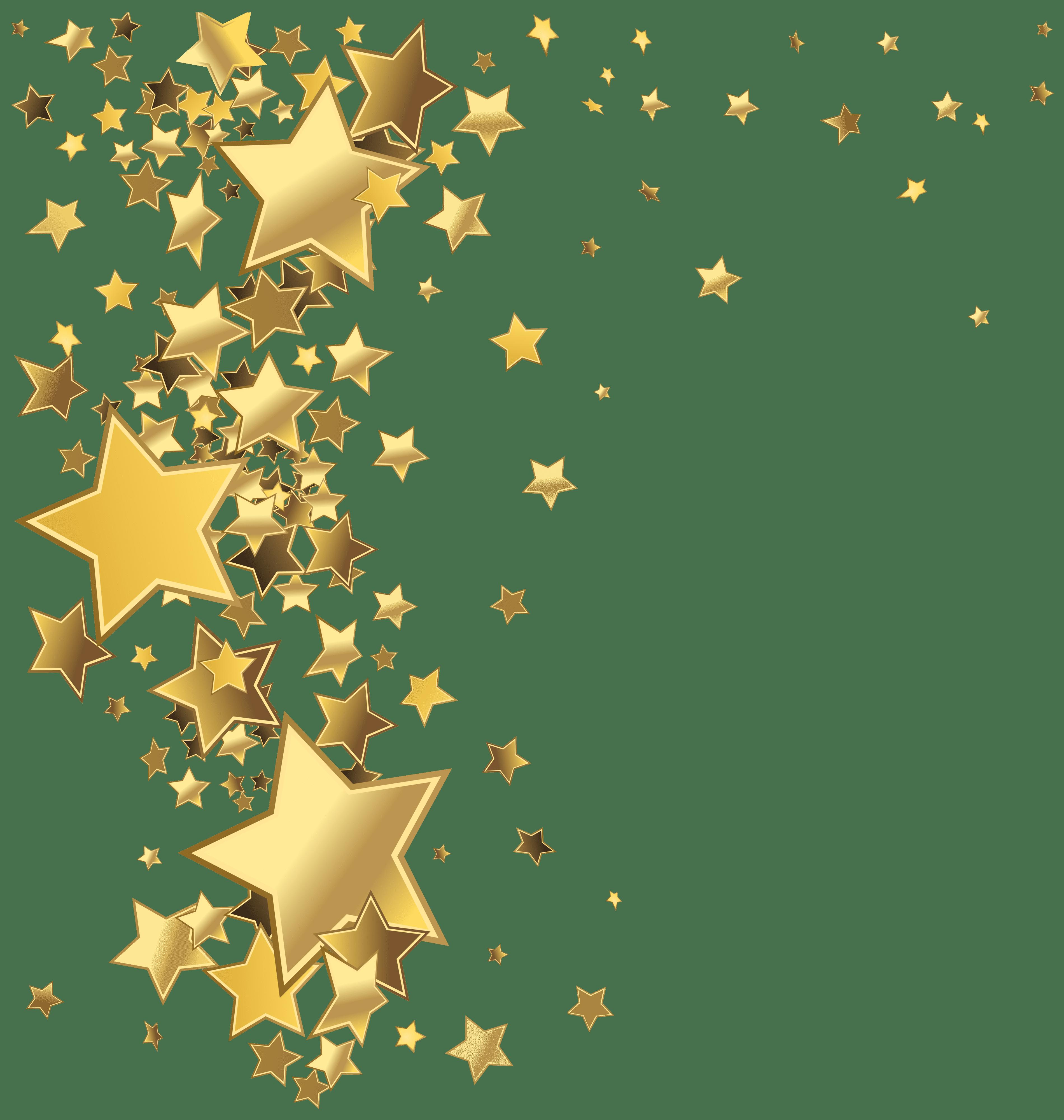 Stars Decoration PNG Clip Art Image.