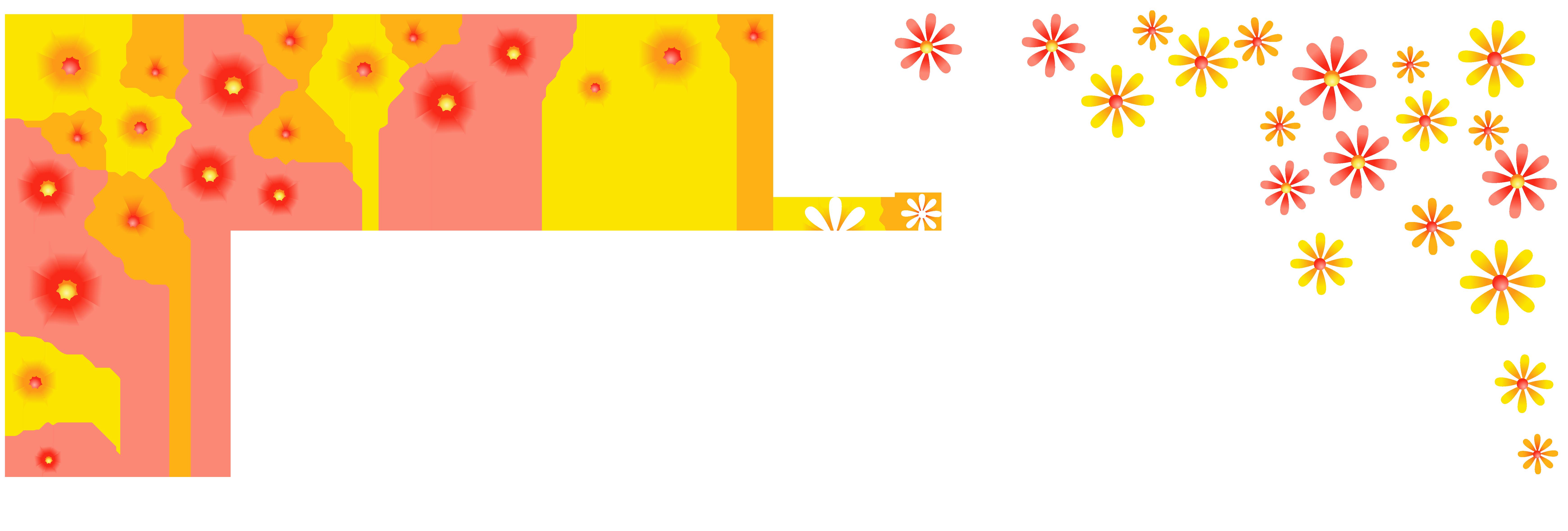 Floral Decoration Clipart Image.