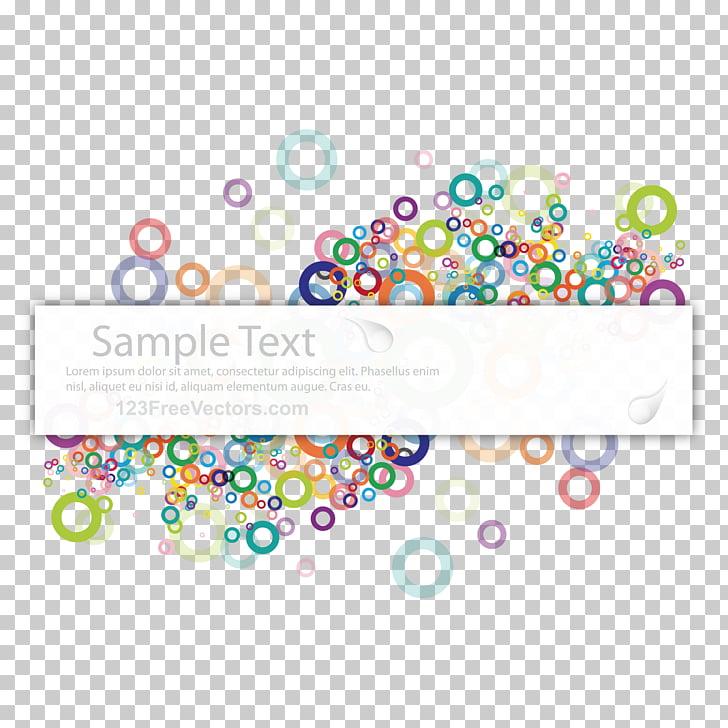 Banner Color Computer file, color circle decoration PNG.