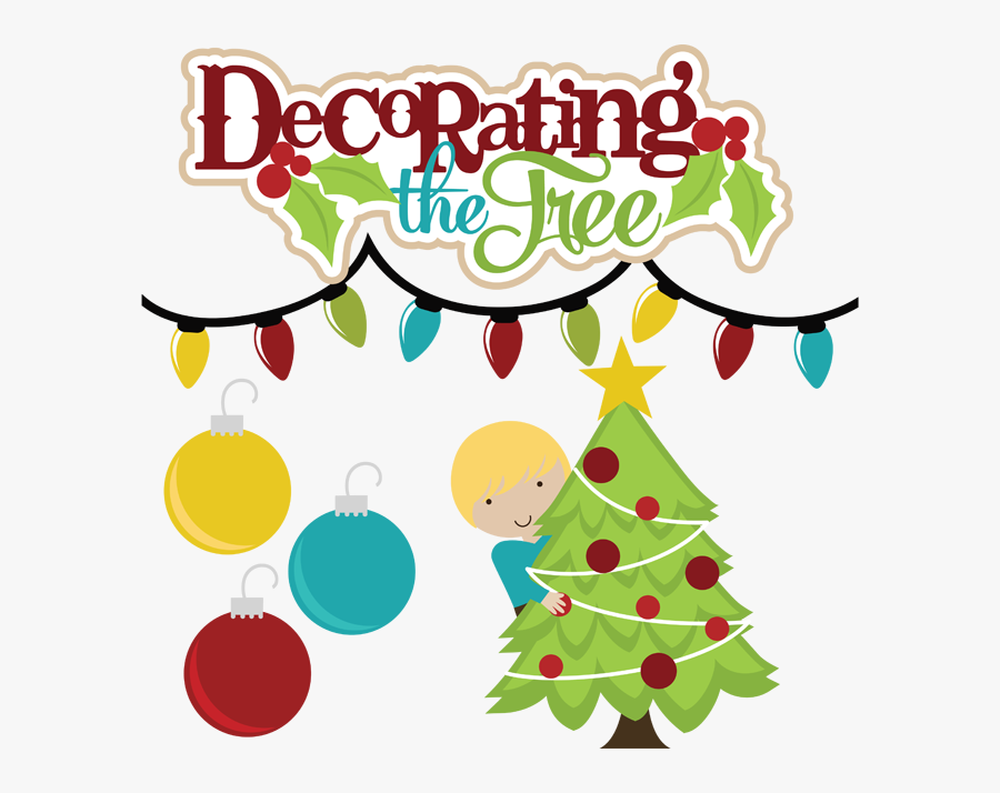 Decorating The Tree Svg Files For Scrapbooking Christmas.