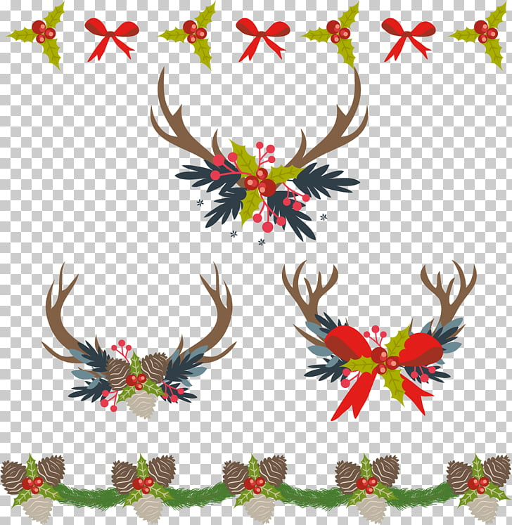 Christmas decoration Computer file, Retro Christmas Border.