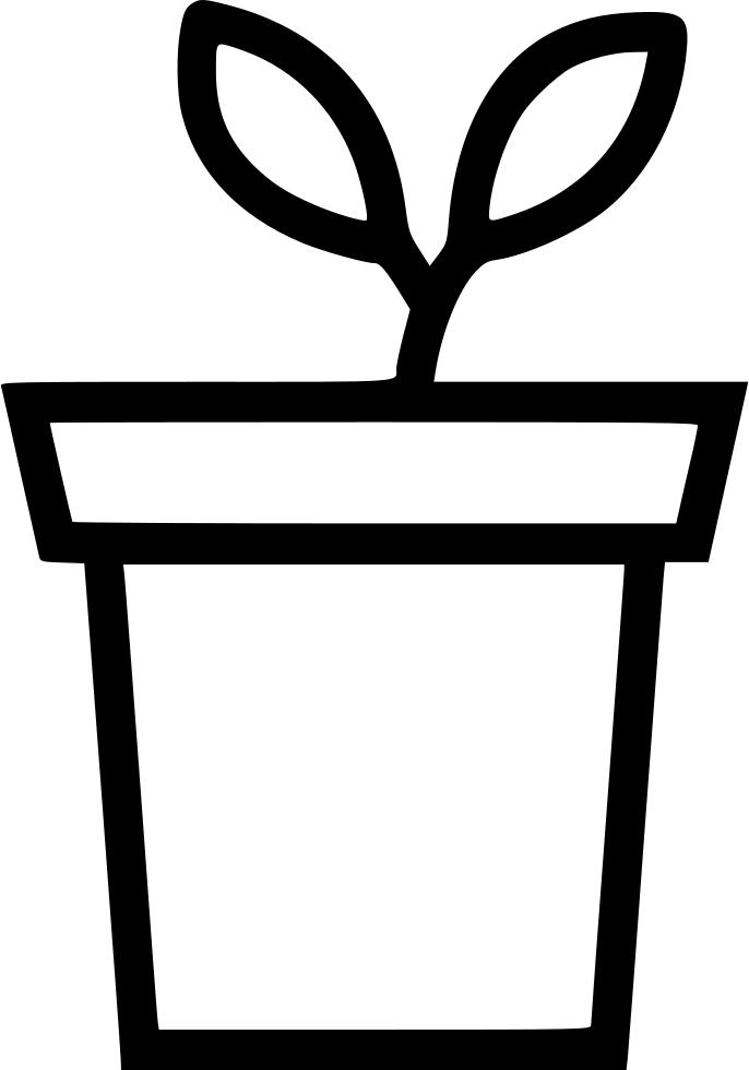 Plant Flower Pot Decoration Leaf Svg Png Icon Free Download (#546709.